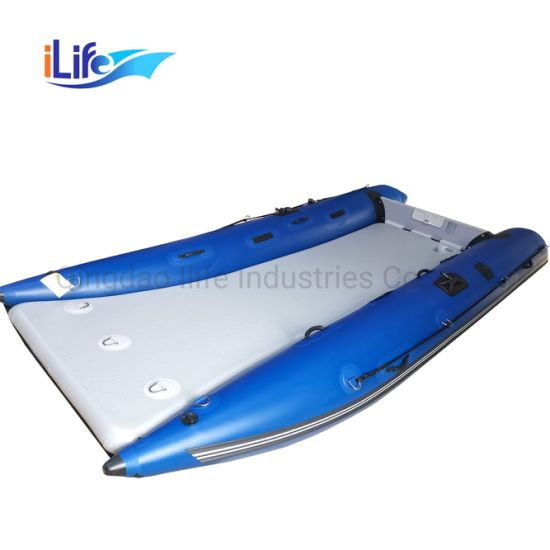 Ilife (4.2m) High Speed-Motor-Fishing Inflatable High Speed Boat with Air Mat Floor