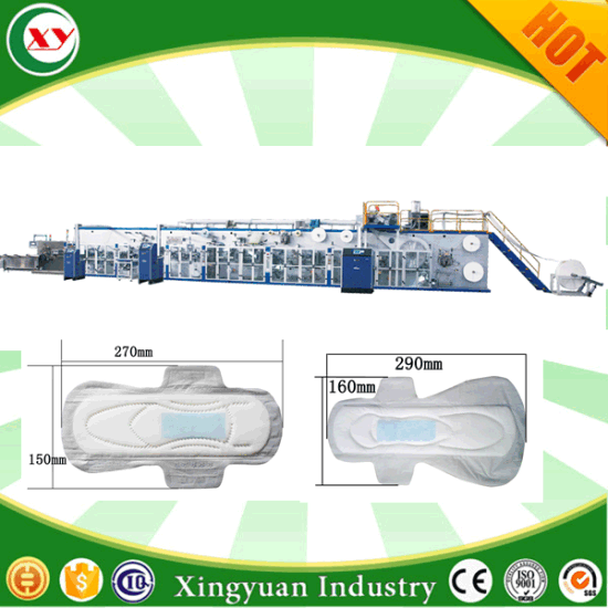 Full Automatic High Quality Sanitary Napkin Making Machine