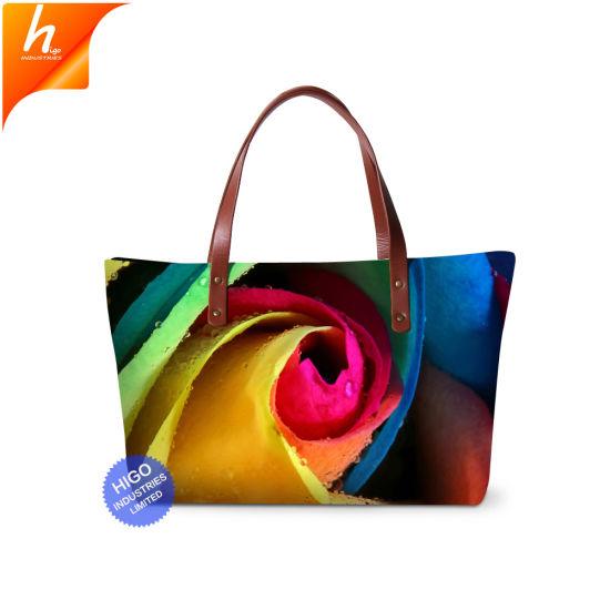 cc59915fd61e Ladies Big Size Flower 3D Designer Handbag Sublimation Messenger Bag for  Girls