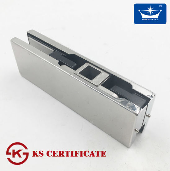 China Stainless Cover Plate Bottom Lower Glass Door Clamp Patch