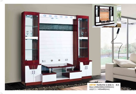 High Gloss Hotel Home MDF TV Stand For Bedroom