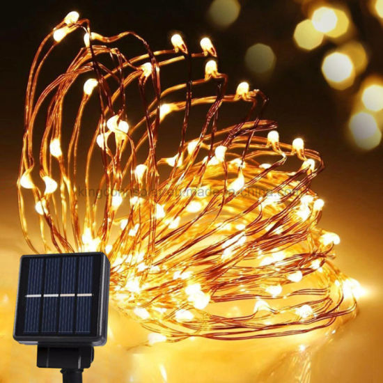 hot sale online 6a370 ec591 China 100 LED Solar Copper String Christmas Light Decoration ...