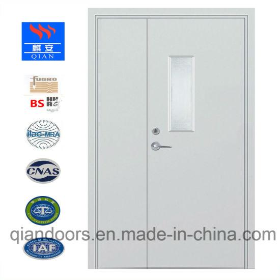 China Hot Fire Glass Door Steel Fire Door Blue Color China Steel