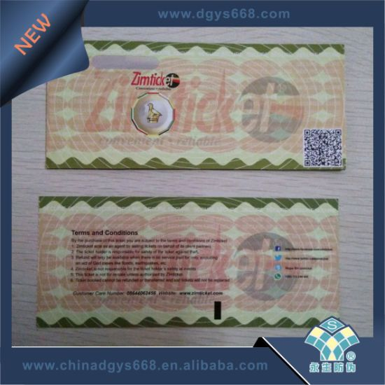 UV Invisible Fiber Thermal Paper Ticket