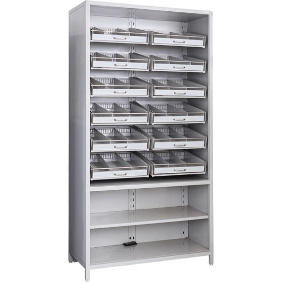 Stainless Steel Medicine Adjustable Component Pharmacy Shelf pictures & photos