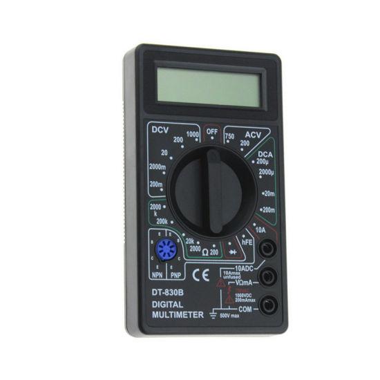 Dt830b Wholesale Low Price Pocket Measuring AC DC Voltage LCD Mini Digital Multimeter Voltmeter Tester