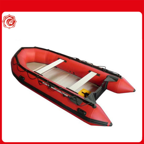 380 Best Selling Inflatable Folding Hypalon Boat with Outboard Motor
