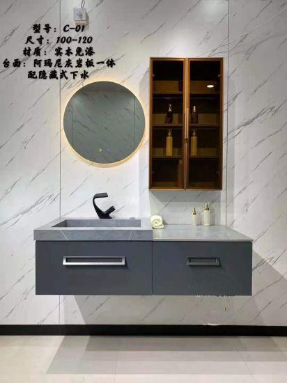 Plywood Solid Wood Melamine Modern Hotel Bathroom Furniture