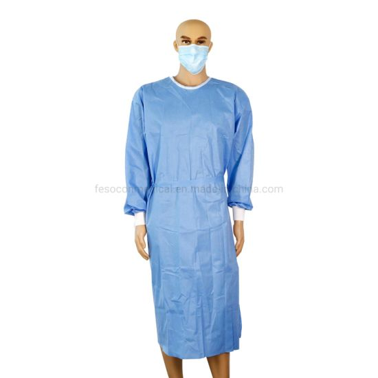 PPE Factory Hospital Doctor Use SMS Fabric Level 3 Sterile Medical Supplies Apron Disposable Isolation Gown