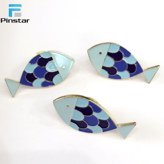 Factory Sell Custom Soft Enamel Pin Metal Fish Lapel Pins for Daily  Decoration