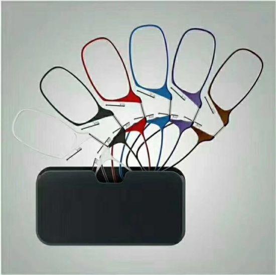 Thin Memory Plastic Optic Reading Glasses for Mobile Phone