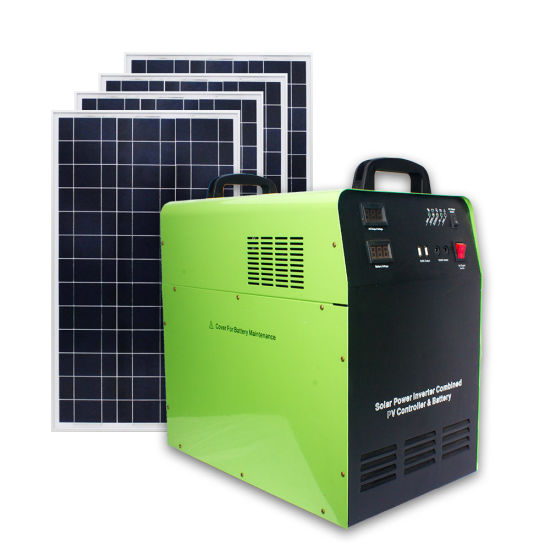 500W Portable Solar Power System off Grid Solar Power System with 100ah Battery