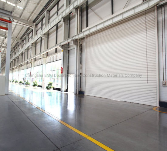 Industrial Exterior Commercial Steel Aluminum Metal Warehouse Power Automatic Overhead Coiling Rolling Roll up Roll-up Roller Shutter Security Garage Door