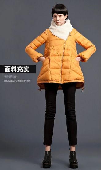 Wholesale Women Clothing Brand Stock Sweetheart Collar Office Down Coat Jacket
