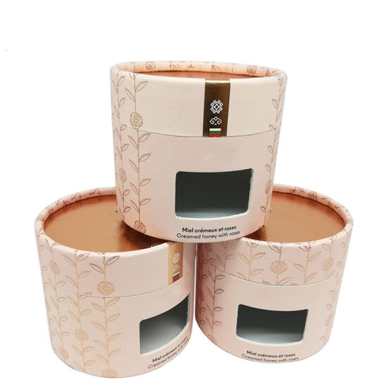 Wholesale Round Gift Box Cosmetic Packaging Hair Conditioner Beauty Essential Oil Cylinder Box