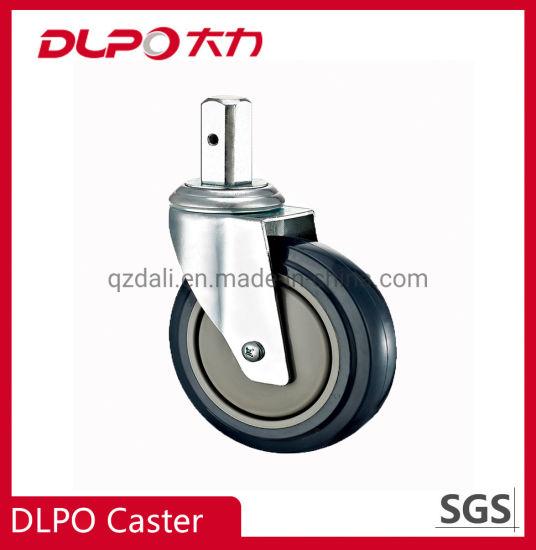 Manufacturer Stainless Steel Square Stem Medical Hospital Swivel Castor Wheels