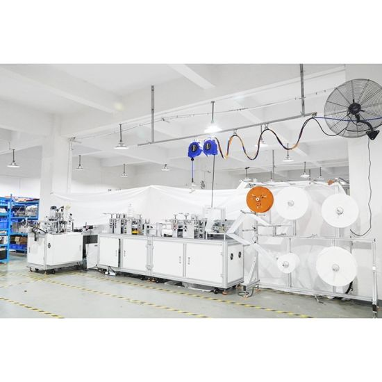 OEM ODM Logo Full Automatic Disposable Kf94 Face Mask Machine with Printing Heads Fish Style Mask Making Machine
