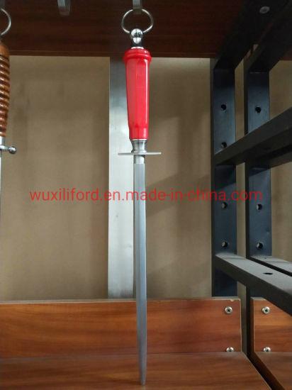 "10"" Heavy Round Diamond Steel Professional Knife Sharpener Rod"