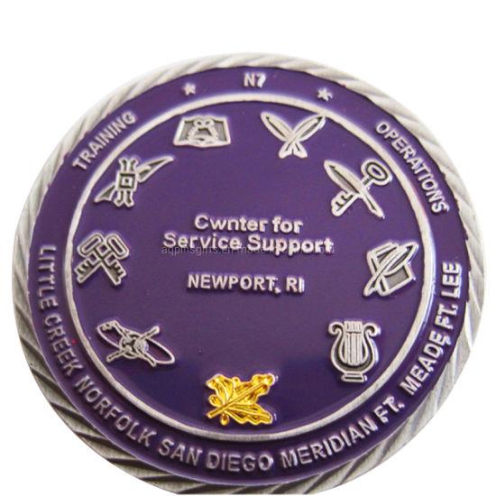 Cheap Custom Logo Police Military Metal Souvenir Challenge Coin Maker Trolley Token Masonic Copper Commemorative Old Antique Silver Gold Coin No Minimum