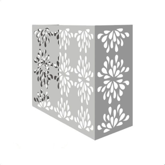 2.5mm Air Conditioner Cover Wall Cladding Decoration Aluminium Solid Panel