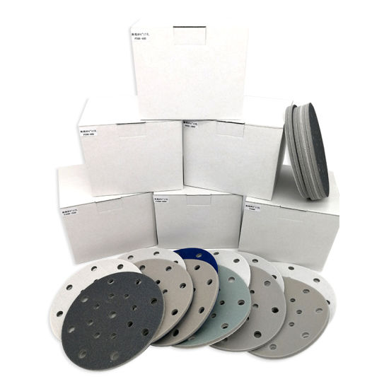 6inch 17-Hole 300-3000 Grit Hook and Loop Sanding Sponge Sandpaper for Polishing and Grinding Power Tool Accessories