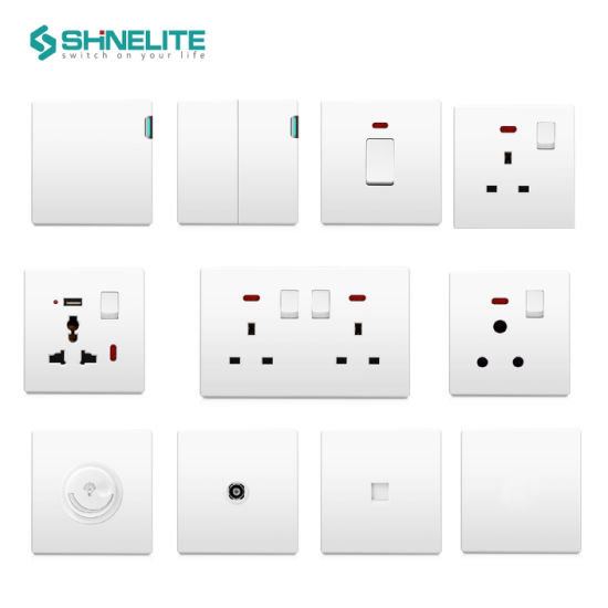 BS 10A 4gang Electrical Wall Switches Factory Best Price pictures & photos