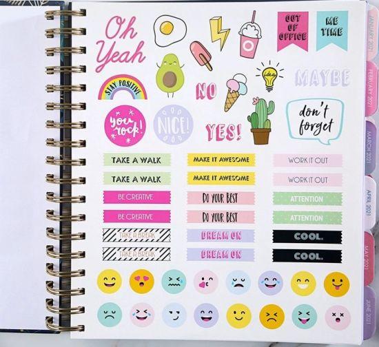 Customized A5 Size Blank Spiral Binding Hardcover School Office Journal Notebook