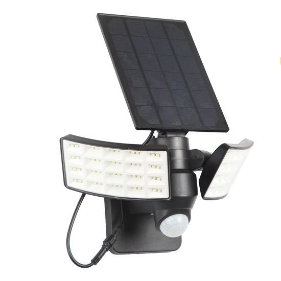 Double Head Solar LED Light with Motion Sensor Wall Garden Light