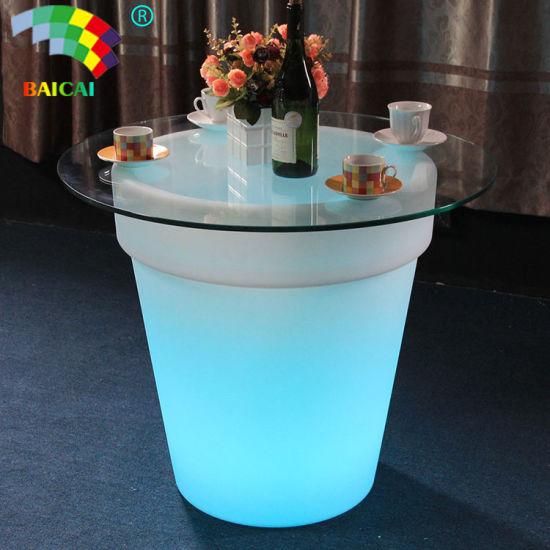 Rechargeable Waterproof RGB Plastic LED Flower Pot (BCG-913V)