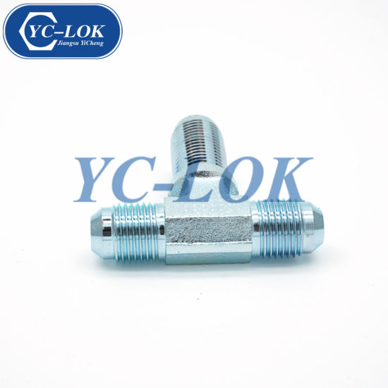 Carbon Steel Jic Male Cone Tee Flared Tube Fittings
