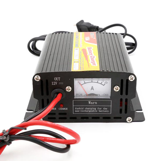 China Hot Sell 12V 10A Three-Stage Automatic Smart Charger