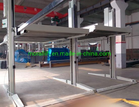 Space Saving Simple Mechanical Hydraulic 2 Levels Car Parking Lift