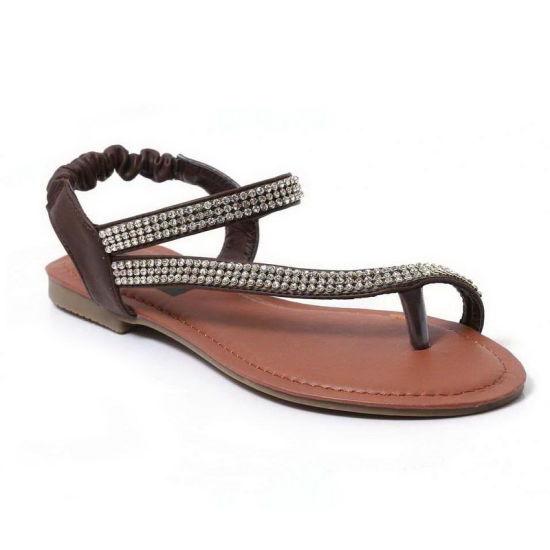 1e23087f38f China Hot Sale Summer Classic Ladies Sandal with Stone - China Flat ...
