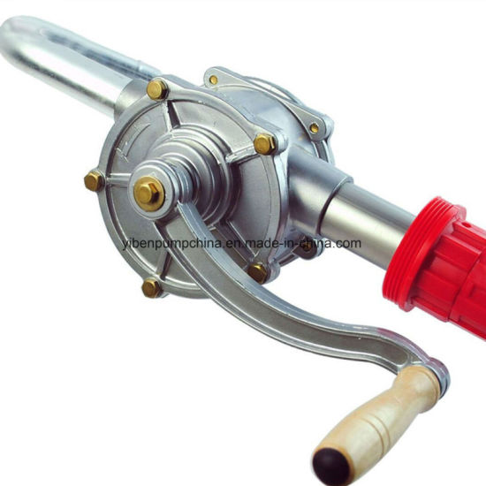 55 Gallons Priming Rotary Hand Oil Pump Fuel Barrel Drum Syphon Transfer Tool