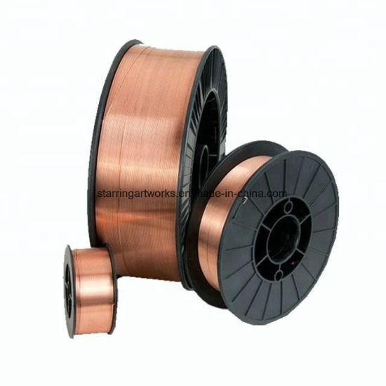 Factory Wholesale Aws Er70s-6 MIG/TIG Copper Solder Type 0.8mm-0.9mm-1.0mm-1.2mm CO2 Gas Shielded Welding Wire