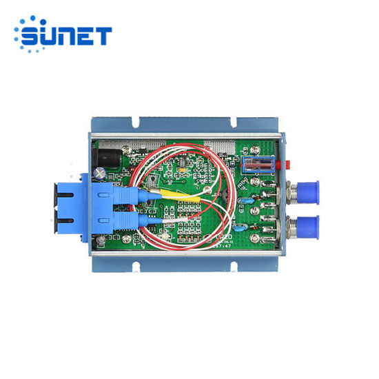 Factory 1550nm Filter Fiber Optic to RF Converter CATV FTTH Optical Receiver with Power
