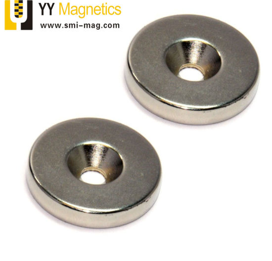Wholesale Strong Round Ring Magnets N50 Rare Earth Neodymium 25mmx4mm Hole 5mm