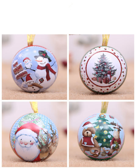 Ball Ornaments Round Iron Tin Storage Jar Candy Boxes pictures & photos
