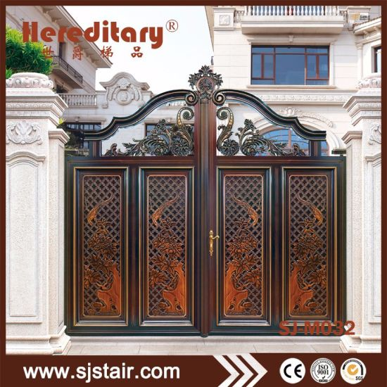 China Antique Indian House Powder Coated Aluminum Main Gate Designs
