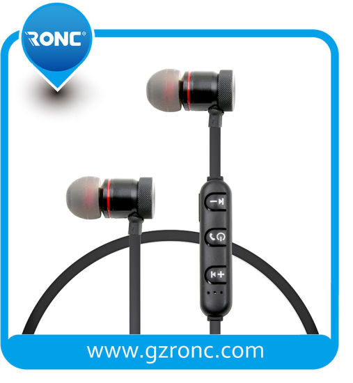 Factory Wholesale High Sound Magnetic Sport Bluetooth Headset Wireless Earphone pictures & photos