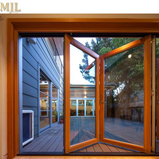 Best Price Wooden Composite Aluminium Frames Designs Glass Bifold Doors