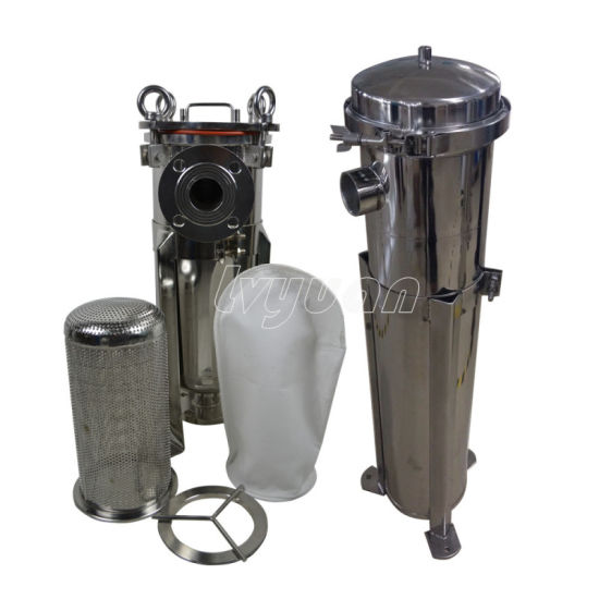 SS316 Ss 304 High Efficient Single Bag Filter Tank Housing Beer Filter Manufacturer