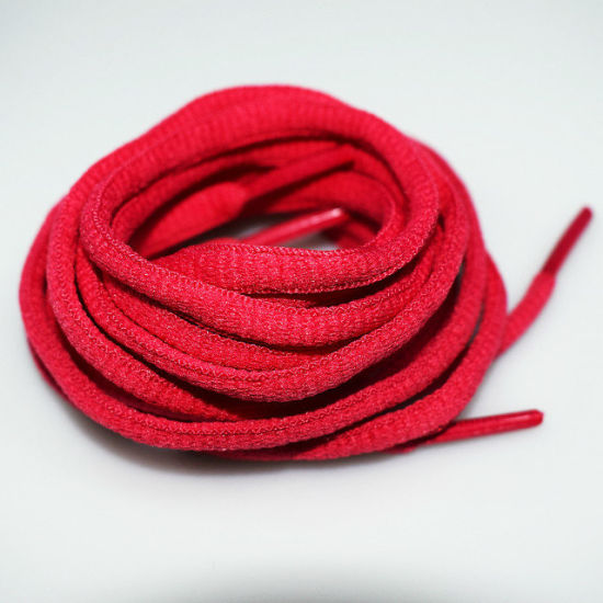 Hot Wholesale Fashion Multi-Color Polyester Oval Half Round Shoelaces with Plastic/Metal Aglets