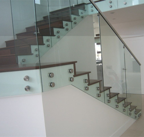 Cement Balcony Glass Railing Designs For Front Porch