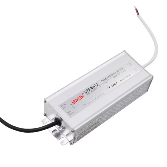 LED Driver 48V 80W 1 7A Constant Voltage Switching Power Supply Waterproof  IP67 AC/DC Lighting Transformer 24 Volt