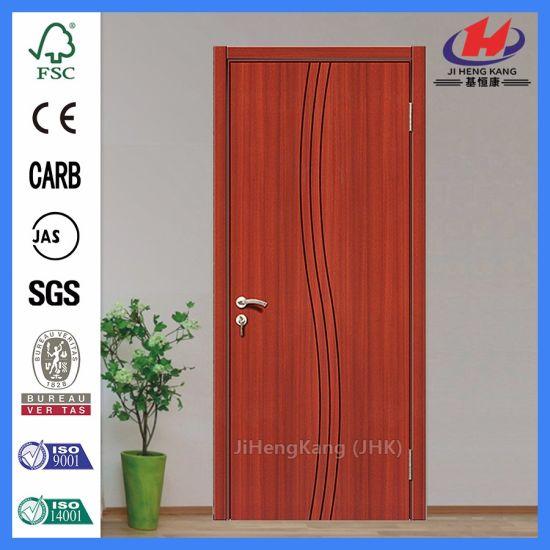 China Bathroom Door Latch Pre Painted White Interior Wpc Door