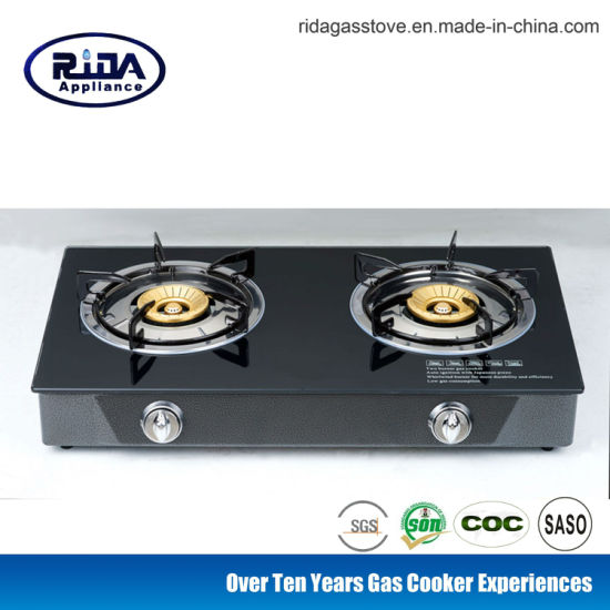 Table Glass Top Stove/Gas Cooker with Copper Cap Set (RD-GD002)