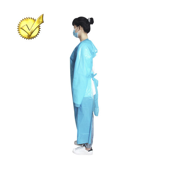 Disposable Gown Impervious Isolation Gown for Global Use