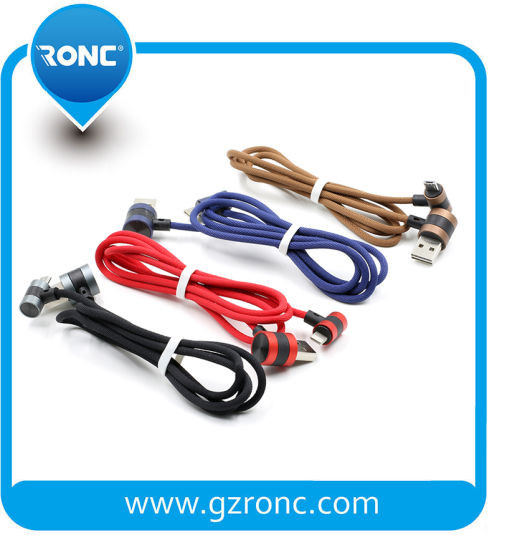 High Speed Round Head Bulk Android Braided USB Cable for Samsung Edge
