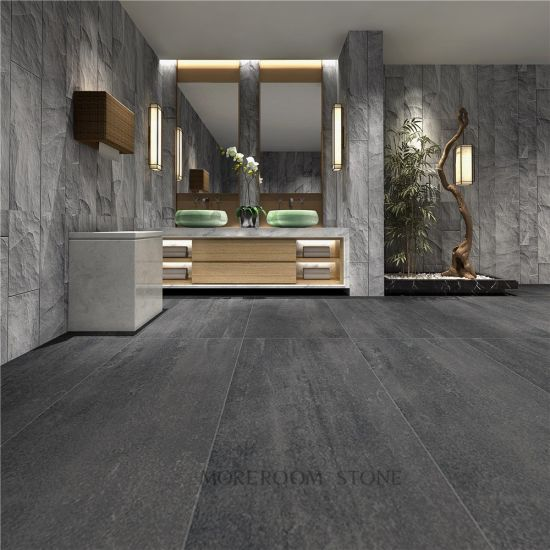 China Light Grey Concrete Effect Tiles Floor China Rustic Effect